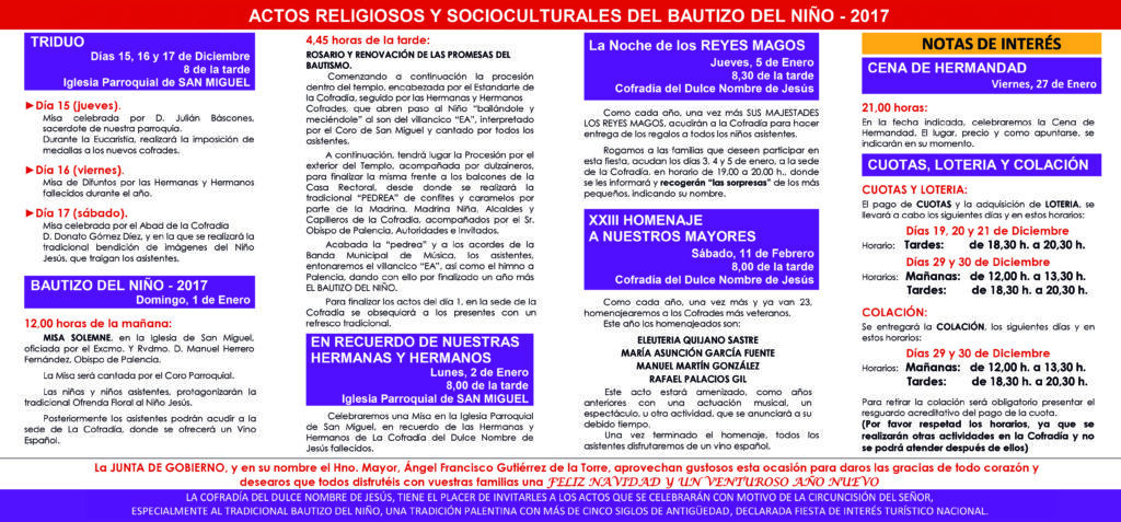 Bautizo del Niño (Palencia) 2017