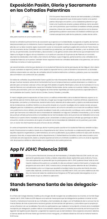 WEB joveneshermandades.es
