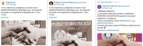 Gestión redes sociales Palencia Club de Fútbol