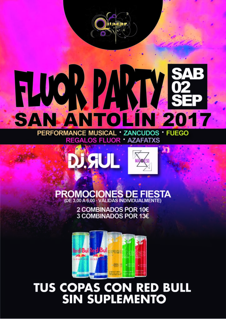 Diseño cartel Fluor Party Quasar
