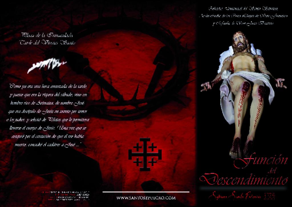 Tríptico Función del Descendimiento de la Cofradía del Santo Sepulcro de Palencia
