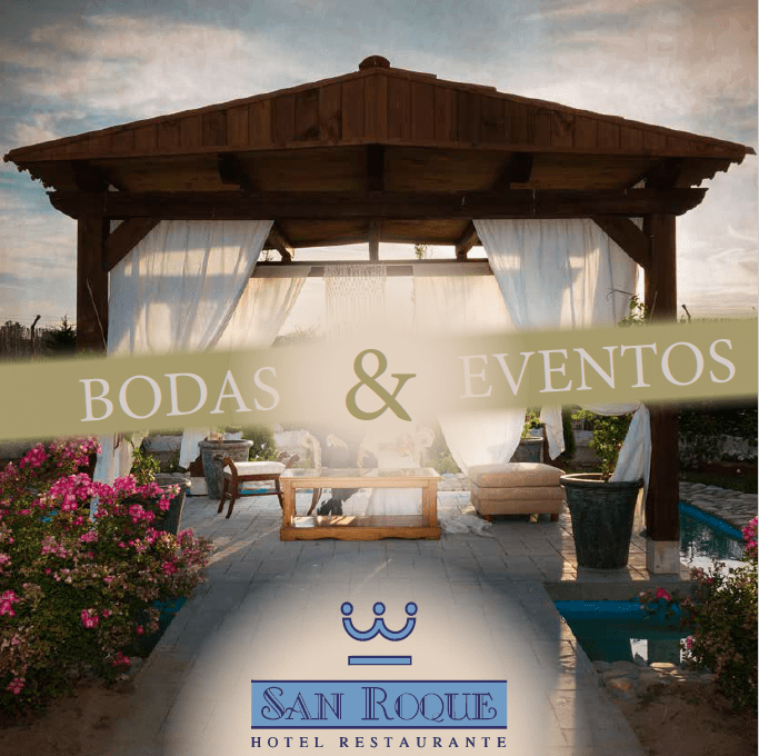 Diseño carta bodas&eventos para Hotel Restaurante San Roque en Medina del Campo