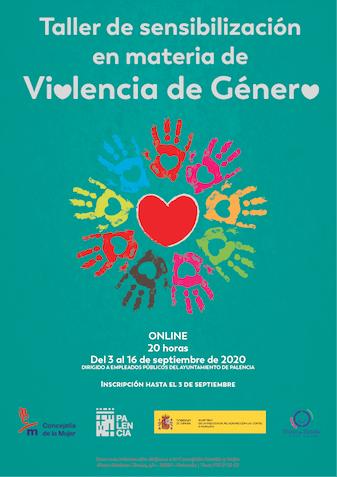 Diseño cartel Taller Sensibilización en materia de de violencia de género del Ayuntamiento de Palencia | www.drestudio.es