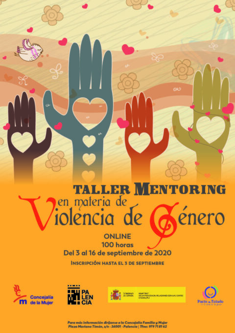 Diseño cartel Taller Mentoring en materia de de violencia de género del Ayuntamiento de Palencia | www.drestudio.es