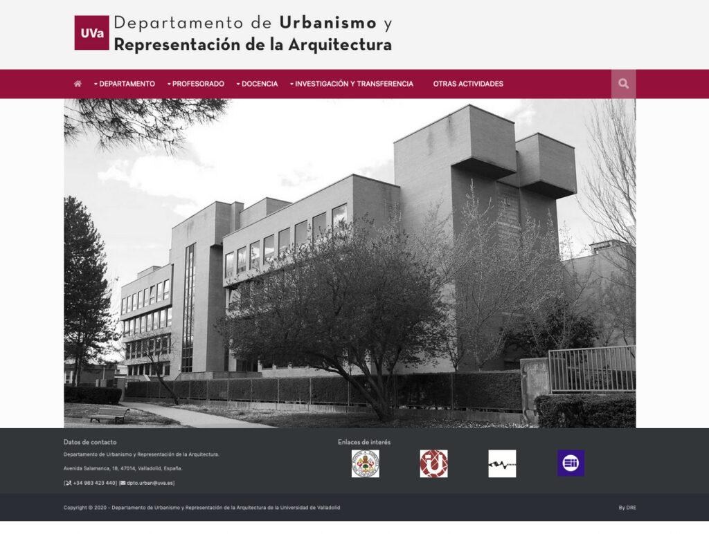Web Departamento de Urbanismo de la Universidad de Valladolid
